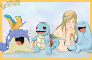Water Trainer Vicky, Squirtle's  Crown by PahHeyDon