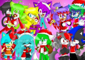 Happy christmas pic : with all my friends:  1 by KenotheWolf