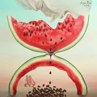 Liza Ray - Watermelon, eaten in time by lizaray