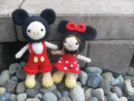Mickey and Minnie! by strawberrystarshine