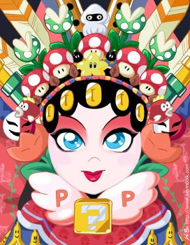Peking Opera Power-Up Princess by kevinbolk