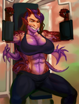 Lilith Works Out 2 by 0pik-0ort
