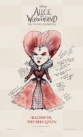 The Red Queen - Costume Sketch by AliceInWonderland