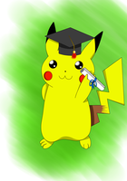 Pikachu's Graduation by Mega-X-stream