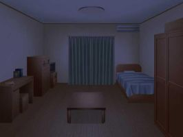 Bed Room Night - No Lights by MarkLauck