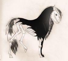 Skeletal Horse tattoo concept2 by Questionablexfun