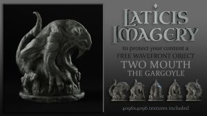 Laticis Imagery FREE Object - Gargoyle Statue by Laticis