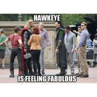 Hawkeye feeling fabulous by MissPsycopath