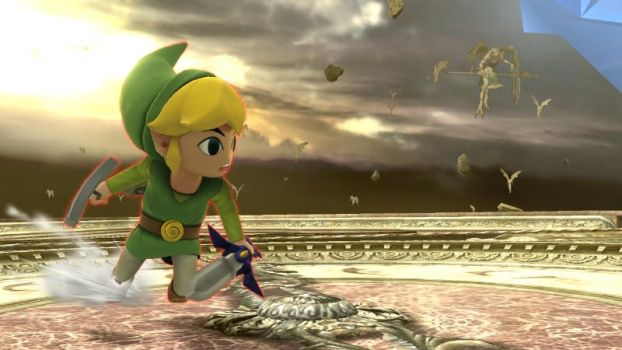 Toon Link and the angels by user15432