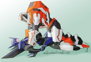 Commission Ratchet and Nightshade (OC) by Uniformshark