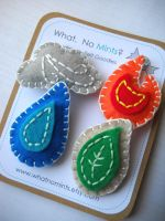 Four Elements Brooch Set by whatnomints