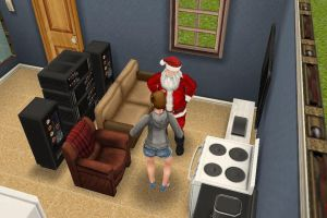 ImageSanta in the sims by hammydance