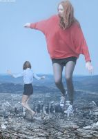 Karen and Taylor frolic over Los Angeles by AnAlternateUsername