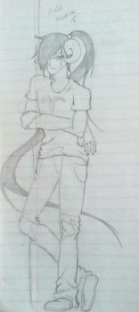 Male Aradia Sketch by ToxicRainbow1357