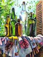 Still-life with the bottles by freaka-juliano