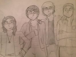 AMBER AND A BUNCH OF TALL PEOPLE by IrrelevantFrenchFry