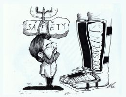 My editorial cartooning.... by EdlouieArts