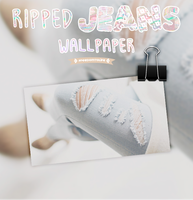 Ripped Jeans Wallpaper by FreedomToLife