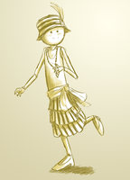 Flapper Mendicant by hootlord