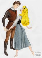 Briar Rose and Phillip by coralicious