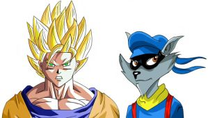 Goku And Sly Cooper by YuvalKon