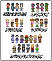 The Urbz GBA Characters by SWSU-Master
