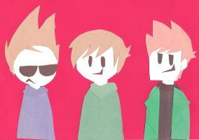 Eddsworld Paperbuddies + Matt by xxInvaderDanixx