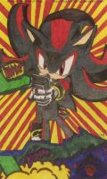 Old Shadow The Hedgehog Fan Art I made in 2008 by MGartist