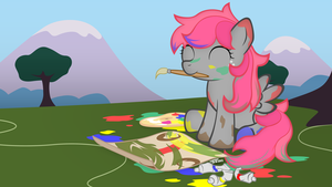 MLP#2 Candy Cloud Painting by SymbianL