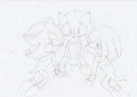 Sonknuxadow Sketch by ArrowTheHedgehog1