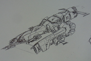 Nova Star fighter by Angryspacecrab