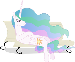 Relaxing Celestia by DestinyProgenitor