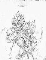 Gogeta and Vegito by Sherif1Zro