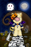 This is haloween - Moogle by firerubydragon