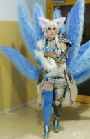 Ice Ahri ^^ by Daraya-crafts