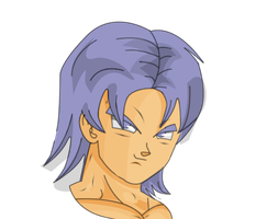 Trunks Head by MrEpicDrawer