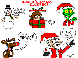 Computer Class Xmas Doodles by austoon