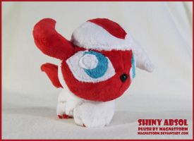 Shiny Absol chibi pokedoll by MagnaStorm