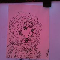 Inktober 21- Sailor Neptune by Lance-Danger