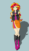 Sunset Shimmer Old Outfit by Icesticker