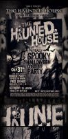 HalloweenS Haunted House PSD POSTER by yAniv-k