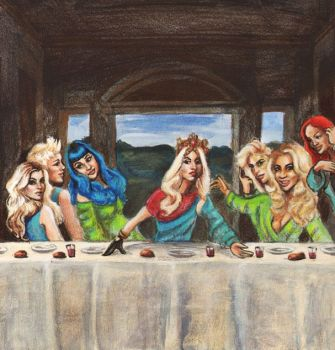 Pop Star's Last Supper by Britan