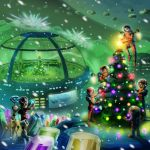 Space Movers Christmas Expansion Roll Board by JonHrubesch