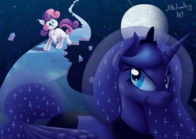 Sweetie Belle and Princess Luna (small) by alittleofsomething