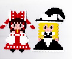 Beads reimu and marisa by anakichi