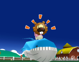 Hot Bidoof on Wailord action by superphail