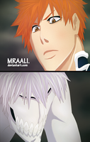Ichigo and Asauchi [Bleach 538] by MrAali