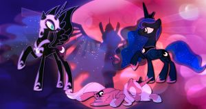 Nightmare moon wallpaper for ILikeYoux3 by AmazingPony