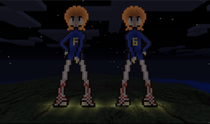 Minecraft: Fred and George by Gizmologist