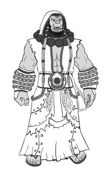 Thrall lineart by AtmaCat